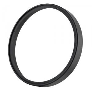 CNC-gedreht schwarz eloxiert