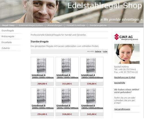 Edelstahlregal-Shop