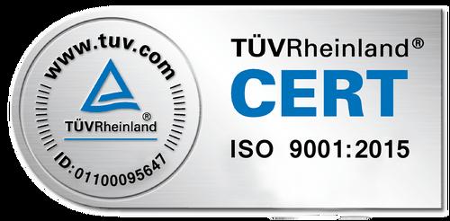 G.W.P. AG TÜV-Cert-ISO 9001_2015